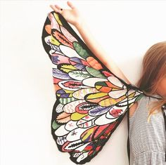 Soar to new heights with this beautifully designed bird wings kids craft activity kit. Design your own Bird Wings with Colour & Glitter Galore! These wings make a beautiful kids costume piece and will inspire hours of creativity! Bird Wings, Butterfly Wings, Butterfly Party, Butterfly Kisses, Diy Art Projects, Projects For Kids, Fabric Birds, Fabric Toys, Birthday Gifts For Kids