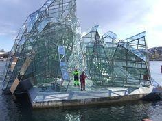 Monica Bonvicini sculpture, at Opera House in Oslo