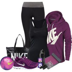 """Exercising"" by lulu  ""Exercising"" by lulurose98 on Polyvore - might need this outfit for when I start exercising after the baby."