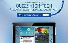 """Gagnez une tablette Samsung avec Pixmania ! Réponses au jeu : 1) 10"""" 2) 588 gr 3) 2012 4) 1938. Lien Facebook : https://www.facebook.com/pixmania?sk=app_201650716563026 #gagner #tablette #samsung #pixmania #facebook"""