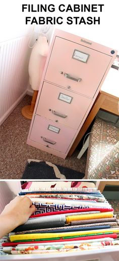 Filing Cabinet is the PERFECT Place for your Fabric Stash!
