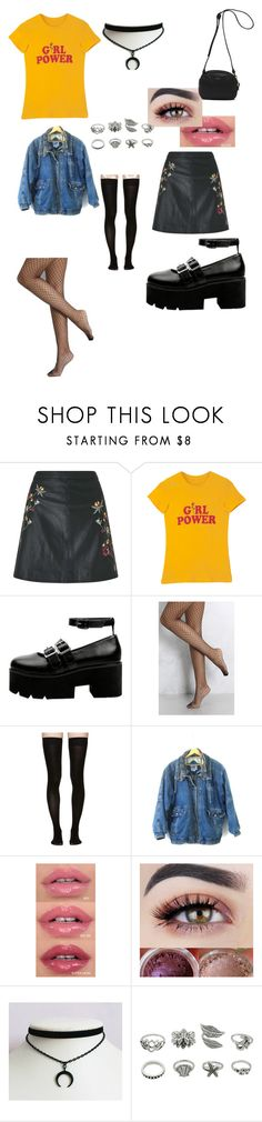"""""""Girl Power"""" by top-notch912 ❤ liked on Polyvore featuring Miss Selfridge, Rare London, Marieyat and Vans"""