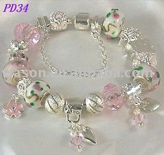 bracelet with pink beads - Google Search