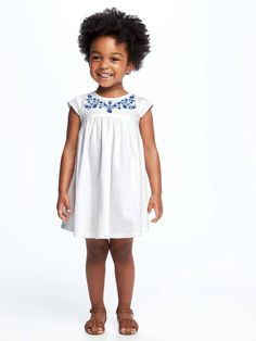 Embroidered-Yoke Swing Dress for Toddler  | Old Navy