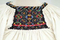 Romanian blouse. Ciupag Folk Clothing, Veronica, Smocking, Ethnic, Textiles, Costumes, Clothes, Fashion, Folklore
