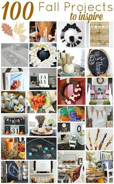 100 fall projects to inspire - so many fun and EASY crafts, projects and inspiration!