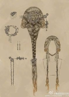 Nice for medieval drawing and fairies. Nice for medieval drawing and fairies. The post Romantic hair style. Nice for medieval drawing and fairies. Hair Art, My Hair, Curly Hair, Wedding Hairstyles, Cool Hairstyles, Fashion Hairstyles, Medieval Hairstyles, Fairy Hairstyles, Fantasy Hairstyles
