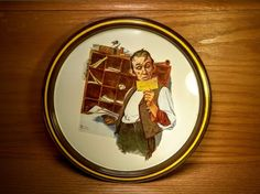 """Norman Rockwell 1976 First Limited Edition Postal Collectors Tin Tray.  Features """"Country Postman"""", the February 18, 1922 Saturday Evening Post Cover.   """"Exclusively reproduced for Postal Credit Union Members."""""""