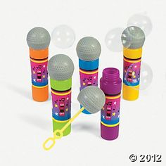 Microphone Bubble Wands, 12 for $10 for Barbie and the Popstar party favors