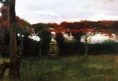 The Athenaeum - Red Arbor with Dog (Max Slevogt - )