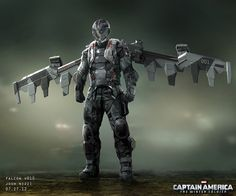 Previous Pinner said: Some very cool unused concept art for Falcon's costume from Captain America: The Winter Soldier. Description from pinterest.com. I searched for this on bing.com/images