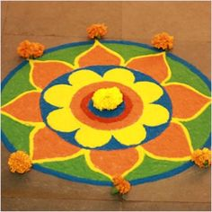 Welcome 2014 with these beautiful dot rangoli designs for new year. We have 20 stunning rangoli designs for you to decorate your home with. Easy Rangoli Designs Diwali, Rangoli Simple, Rangoli Designs Latest, Simple Rangoli Designs Images, Rangoli Designs Flower, Free Hand Rangoli Design, Small Rangoli Design, Rangoli Ideas, Diwali Rangoli
