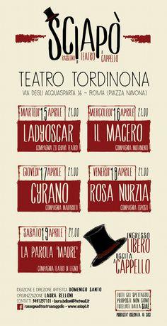 Sciapo' la Rassegna di teatro a cappello arriva a Roma al Tordinona - stagione 2013/ 2014