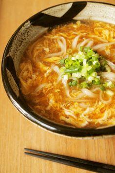 寒くなってきた季節の変わり目に食べたい、生姜香るかき玉とろみうどん