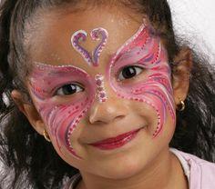 Grimtout, maquillage à l\u0027eau, papillon rose, étape 4