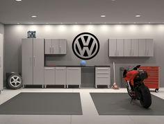 Volkswagen Vinyl Sticker Decal Interior Garage Wall Sticker