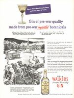 Hiram Walker's London Dry Gin 1945 Ad Picture