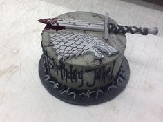 Game of Thrones Cake, House Stark. From Sweet Boutique Cakes