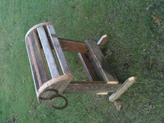 Saddle stand made from recycled wood.