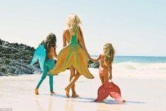 Kazzie Mahina the real-life mermaid who swam with sharks when she ...