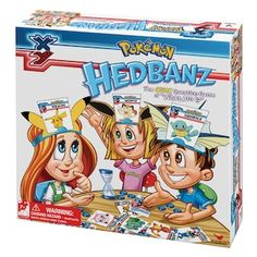 """Pokemon Hedbanz Game Description The game that's all about using your head! Discover the quick question game of """"what am I?"""" featuring all your favorite Pokemon Pokemon Gifts, Pokemon Toy, Pokemon Party, Pokemon Birthday, Cool Pokemon, Pikachu, 7th Birthday, Pokemon Craft, Pokemon Stuff"""