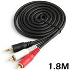 5.9 Feet 1.8m 3.5mm Standard Stereo Audio Jack Male to 2 x Male RCA Audio Connector Adaptor Cable for Music Players