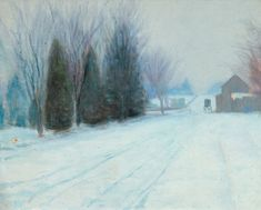 Edward Willis Redfield (American, 1869–1965) - Carriage in a winter landscape