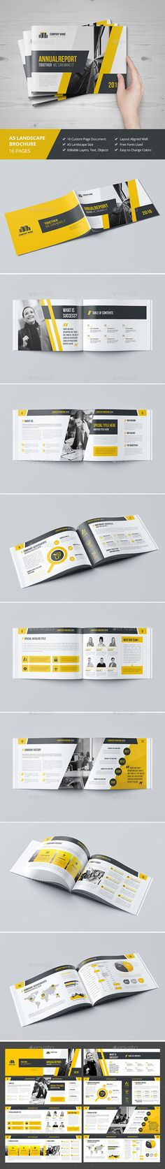 Haweya Landscape Brochure 16 Pages Template InDesign INDD. Download here: http://graphicriver.net/item/haweya-landscape-brochure-16-pages-v03/16748772?ref=ksioks