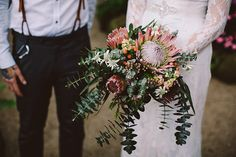 SHONA + BEN // #wedding #flowers #bouquet #foliage #australian #natives #bride #bridal #melbourne #victoria