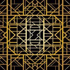 Art deco geometric pattern (1920's style) | Vector | Colourbox on Colourbox