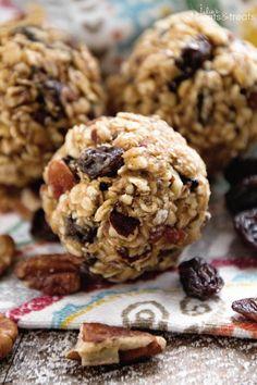 No Bake Oatmeal Raisin Energy Balls Recipe ~ Delicious Energy Balls That Taste…