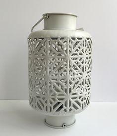 Large White Iron Lantern