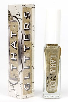 LAQA & Co. Chubs Gold Nail Polish at Lulus.com!