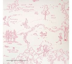 Jane Churchill One Hundred Acre Wood Map