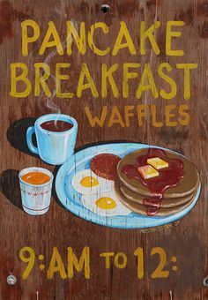 Pancake Breakfast sign,