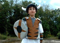 Viking kostuum Gift Set  grijs en bruin  Kid door TheTreeHouseKid