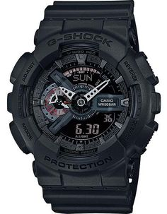 This X-Large G-SHOCK was designed with black matte finish set against red accents creating a dynamic look, rich with style. - Shock Resistant - Magnetic Resistant - 200 Meter Water Resistant - Auto LE