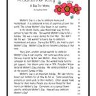 This is a Mother's Day fluency passage I wrote, comprehension questions, and a letter writing template to go with it. There is a student copy in c. Letter Writing Template, Comprehension Questions, Student, Letters, Templates, Activities, Reading, School, Day