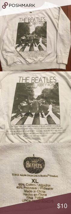 Beatles- Abbey Road Sweatshirt- XL Fun sweatshirt for any music lover- long sleeve cotton/poly- super soft and comfortable and cute!!! From smoke free home The Beatles Tops Sweatshirts & Hoodies