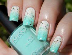 aqua nails #color #colours #ombre #makeup