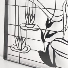 Lazer Cnc Kesim Desenli Ayna,Metal Desenli Füme Ayna