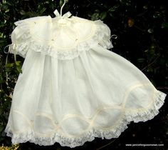 Lace Tape Wedding Ring Dress~White Wednesday | Janice Ferguson Sews