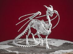 Etsy MythicArticulations: Dragon Skeleton 3D Print Taxidermy Sculpture