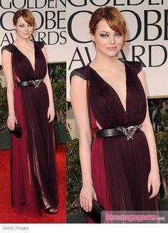 Emma Stone in Lanvin at 2012 Golden Globes