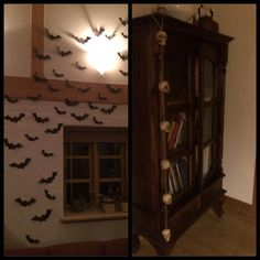 Diy Halloween bats Made some bats of black paper some years ago and they can be used year after year
