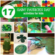 St. Patrick's Day Activities for Kids - Pinned by @PediaStaff – Please Visit ht.ly/63sNtfor all our pediatric therapy pins