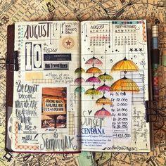 Journaling Gallery — Happy Journaling Travel Journal Pages, Book Journal, Journal Paper, Art Journals, Sketchbook Prompts, City H, Bullet Journal Art, Bullet Journals, Cool Notebooks