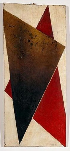 Alexander Rodchenko (Russian, 1891-1956) Composition, ca. 1917 Oil on panel 22 7/8 x 10 in. Purchase with funds from the Walter Family in memory of Nadine Walter M1992.120