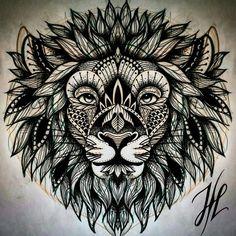 Ornamental lion head design by Marjorianne