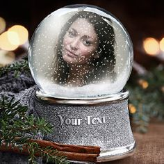 Create your Snow Globe with your picture and a special message
